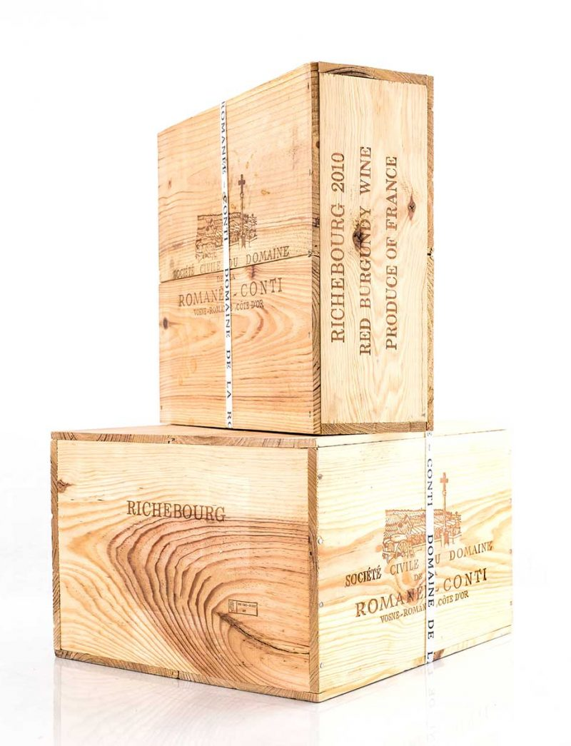 Lot 691, 692: 6 and 3 magnums 2010 DRC Richebourg in banded OWC