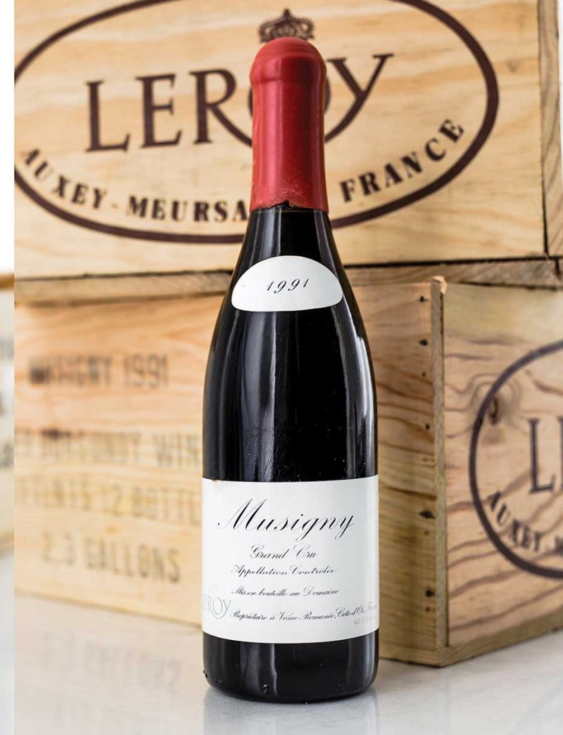 Lots 89-90: parcel lots 12 bottles 1991 Domaine Leroy Musigny in OWC